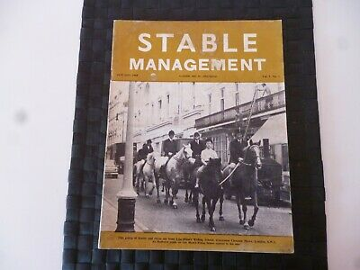 Stable Management October 1968 Horse Pony Lilo Blum's Riding School *Read*