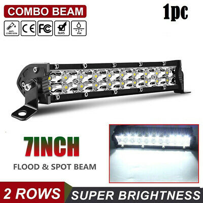 "7"" Inch Led Work Light Bar Flood Offroad Atv Fog Truck Lamp 4Wd 12V 6"" 8'' 10''"