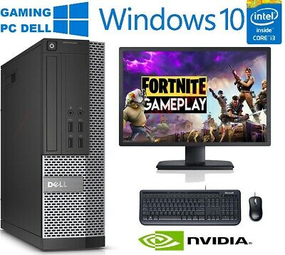 FAST CHEAP Gaming DELL Bundle Tower PC FULL SET Computer System Intel i3 8GB 1TB