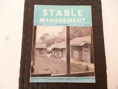 Stable Management October 1969 Horse Pony Riding Centre For Disabled Essex *Read