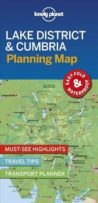 Lonely Planet Lake District & Cumbria Planning Map 9781788685962 | Brand New