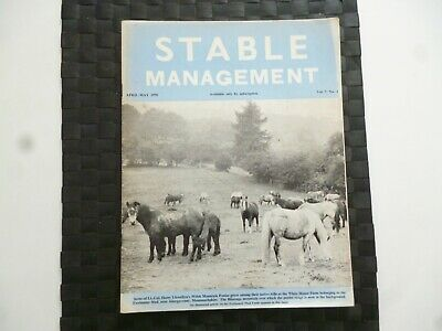 Stable Management April 1970 Horse Pony Foxhunter Stud Monmouthshire *Read