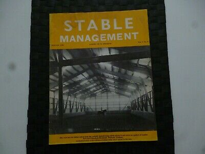 Stable Management October 1970 Horse Pony German Riding School (Tatty) *Read*