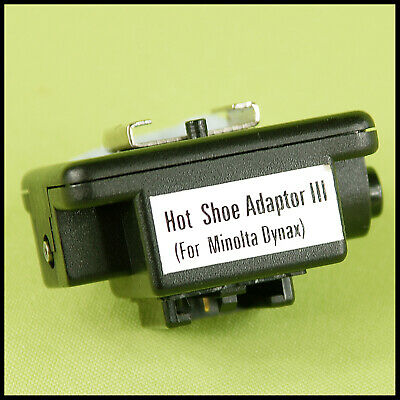 Minolta Hot Shoe Adapter 3 use conventional flashgun on Dynax mount cameras