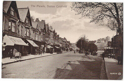 SUTTON COLDFIELD The Parade, Old Postcard by Valentine, Unused