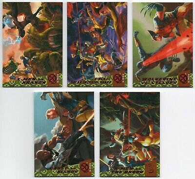 2018 Fleer Ultra X-Men Greatest Battles 10 Cards Complete Set Avengers Wolverine