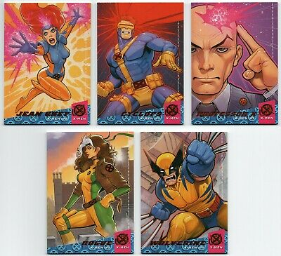 2018 Fleer Ultra X-Men X-Men '92 10 Cards Complete Set Wolverine Jean Grey +