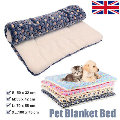 S-XL Cute Dog Cat Pet Soft Bed Mat Pillow Cushion Cozy Mattress Blanket Washable