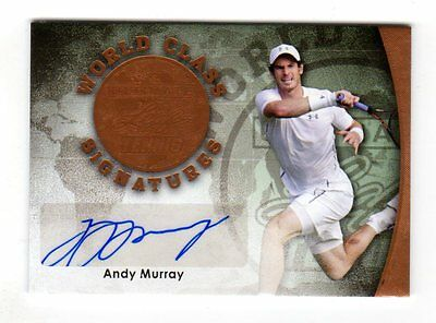 Andy Murray Atp 2015 Leaf Ultimate Tennis World Class Autographs