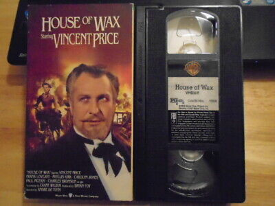 RARE OOP House of Wax VHS film 1953 horror VINCENT PRICE addams family C BRONSON