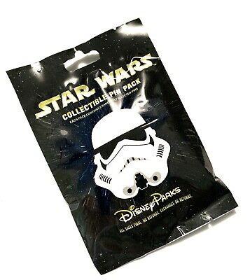 Disney Parks Star Wars Stormtrooper Helmets Mystery 5 Pin Pack Bag Sealed - NEW