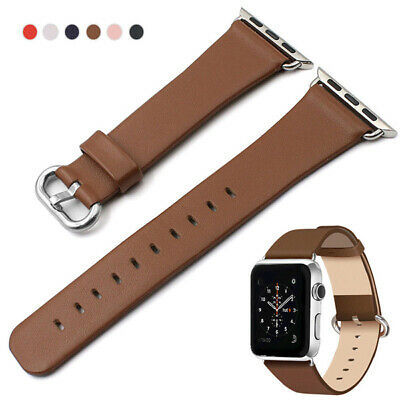 Soft Leather Band Wrist Strap For Apple Watch iWatch Series 38/40mm 42/44mm