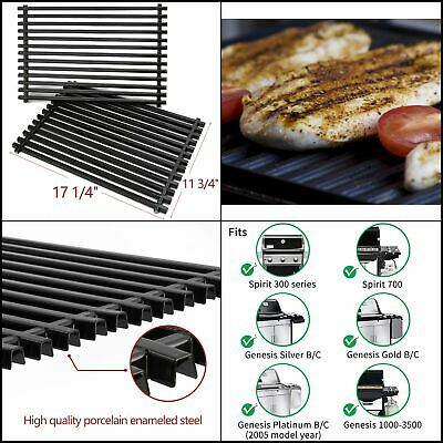 WEBER KENMORE GAS Grill Stainless Sear Cooking Grates Set (2) 11 3/4