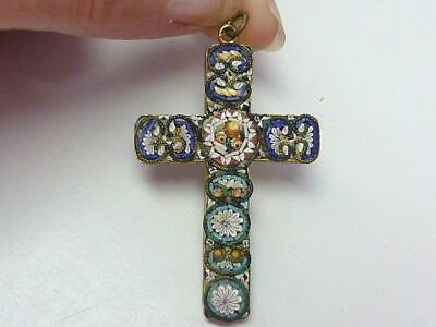 ITALIAN CROSS PENDANT Crucifix Solid 18K Yellow Gold Red Coral /3 cm