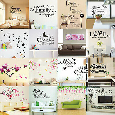 Vinyl Home Room Decor Art Quote Wall Decal Stickers Bedroom Removable DIY Hot