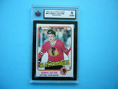 1981/82 O-Pee-Chee Nhl Hockey Card #165 Darryl Sutter Rookie Ksa 8 Nm/Mint Opc
