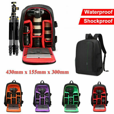 New Waterproof Shockproof SLR DSLR Camera Bag Case Backpack For Canon Sony Nikon