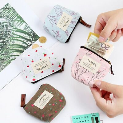 Colorful Floral Storage Bag Memory Carrying Card Case Box Coin Purse Accessories
