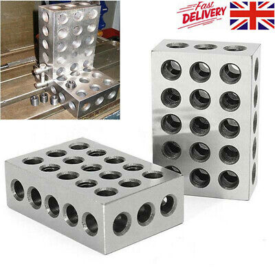 """1 Pair 1-2-3 Block Ultra Precision Matched .0001"""" Machinist 123 Milling 23 Holes"""