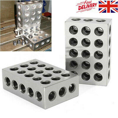 """Pair 1-2-3 Block Ultra Precision Matched .0001"""" Machinist 123 Milling 23 Holes"""