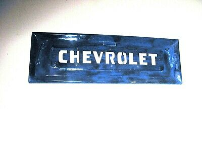 Vintage 1950's Chevrolet Truck Metal Tailgate Replica Wall Mount Hand Built