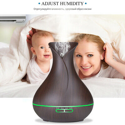 500ML Aroma Diffuser Electric Ultrasonic LED Air Mist Humidifier Purifier Light