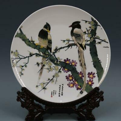 Chinese ancient antique hand make Flower-and-bird pattern plate