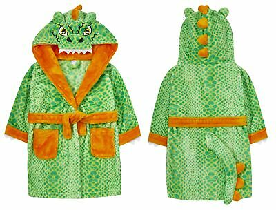 Childrens / Boys Green Dinosaur Dressing Gown with Tail ~ 2-6 Years
