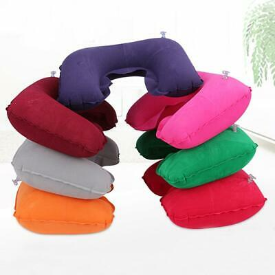 New Unisex U-shape Travel Inflatable Pillow Portable Soft Neck Support T9G1