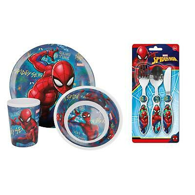 Spiderman Graffiti Dining Cutlery Set- Plate, Bowl, Tumbler, Knife, Fork, Spoon