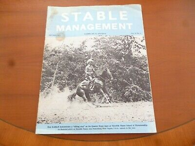Stable Management October 1973 Meredith Manor West Virginia Usa Horse *Read*