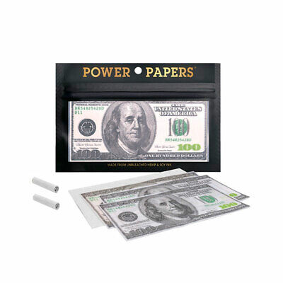 Librito / Papel de fumar Powers Paper Dolar 12 Hojas + Tips (110x54mm)