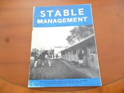 Stable Management June 1974 Busby Equitation Centre Glasgow Horse Pony *Read*
