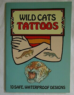10 x Temporary Safe Waterproof TATTOOS in Booklet - WILD CATS