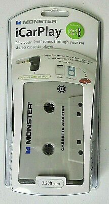 Monster iCarPlay Cassette Tape Car Adapter for iPod MP3 & iPhone, Android Sealed