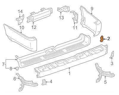For Toyota Genuine Bumper Face Bar Bracket Front Right 5214535020