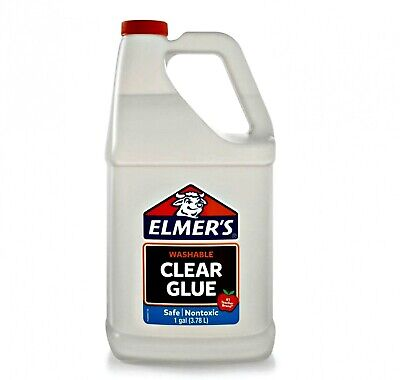 New Liquid School Glue, Clear, Washable, 1 Gallon - Great for Making Slime