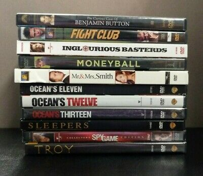 Loris-Lots Brad Pitt: Lot of 11 Brad Pitt Movies   (DVD)  LIKE NEW  titles below