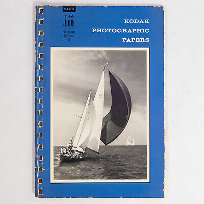 Vintage Kodak Photographic Papers Professional Data Book G-1 8th edition 1965