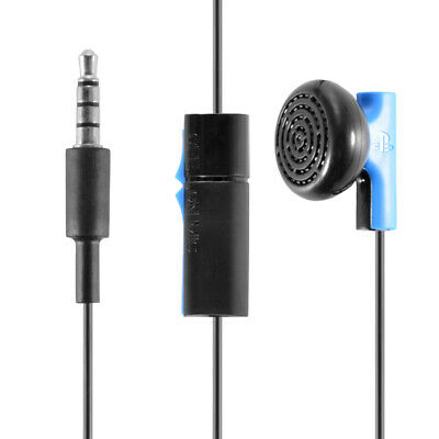 Game Earphone Stereo In Ear Headset Black for PS4 Playstation Controller AC1615