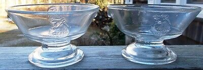 ~~ Lot Of 2 Vintage EAPG - Actress ~~ Round Open Footed Dessert/Fruit Bowl ~~