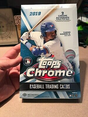 2019 Topps Chrome MLB Baseball Factory Sealed Hobby Box