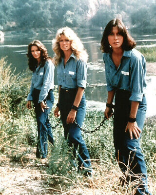 """Charlie's Angels """"Angels in Chains""""  Farrah Jaclyn Kate shackled TV Poster"""