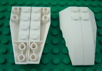 LEGO Pair of White Top /& Bottom 6x2 Wedges