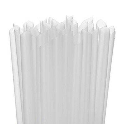 "Straws 300ct 10 1//4/"" Clear Smoothies//Shake//Drinking Jumbo Plastic Wrapped Straws"