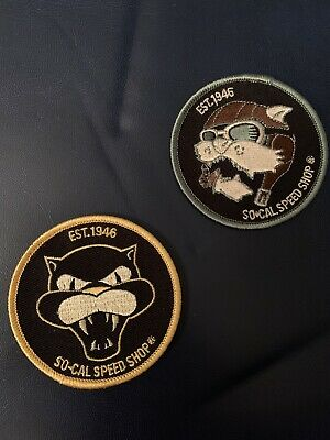 So-Cal Socal Speed Shop Cat Patch Hot Rod Lot Of 2