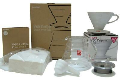 Hario V60 Coffee Pour Over Kit Bundle - Comes with Ceramic Dripper,...
