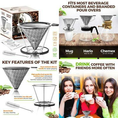 Goodiez Reusable Coffee Filter Mesh-Pour over Dripper Cone-Clever...