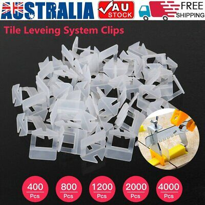 400x-4000x Tile Leveling System Clips Levelling Spacer Tiling Tool Floor Wall AU