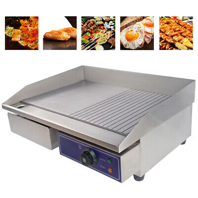3000W Electric Griddle Flat Groove Grill BBQ Teppanyaki Commercial Hot plate